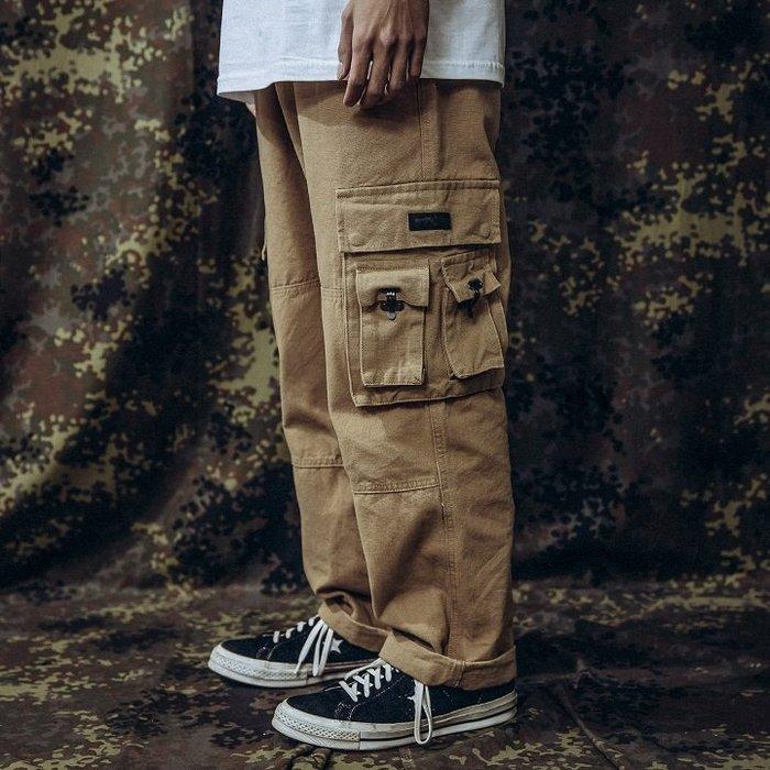 GHK - CargoPenter K18-Veteran 帆布多口袋工作褲 卡其-軍工裝 軍褲 上寬下窄 寬褲