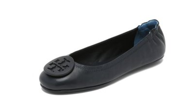 Tory Burch Minnie Travel Ballet Flats 可折疊芭蕾舞平底鞋  深藍