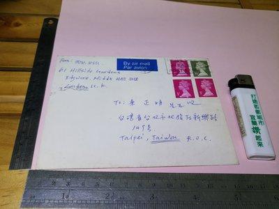 民國81年(1992) 名人 書信 友人含郵實寄封 郵戳 銘馨易拍 PP045 老資料書信文件 如圖