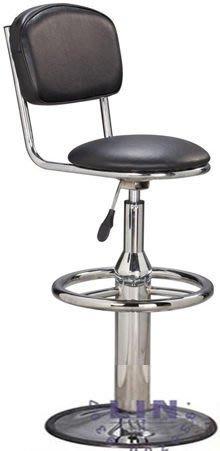 【品特優家具倉儲】P216-13吧台椅雅士電鍍踏圈圓盤吧台椅
