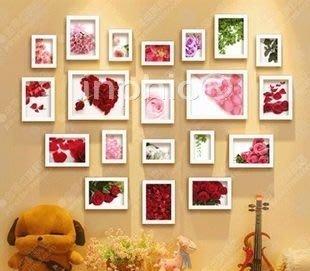 INPHIC-框畫照片牆 心型相片相框牆 菱形照片牆20框送雙模板 主臥裝飾