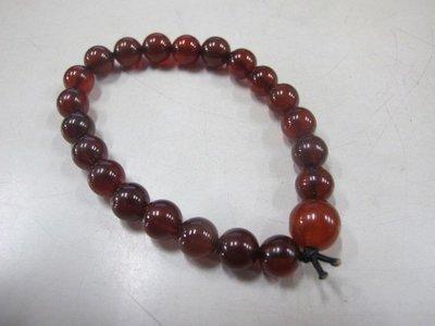 二手舖 NO.4002 天然紅玉髓手鍊 手珠 串珠 8mm 首飾飾品
