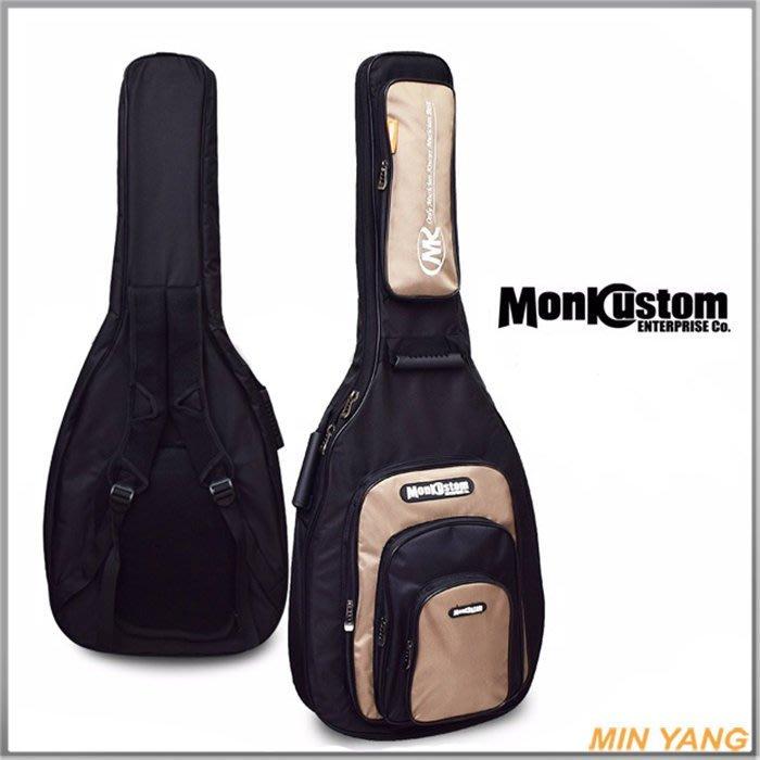 【民揚樂器】 民謠吉他袋 木吉他袋 Monk SAB1600 附雨衣 JUMBO可用 高級厚袋