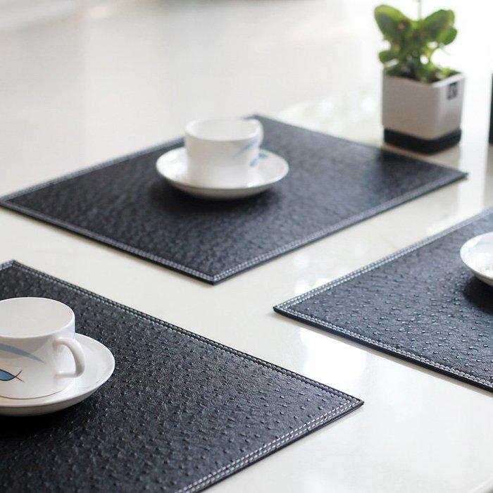 正想家居家用隔熱墊盃墊餐桌墊歐式方形西餐墊防水防燙碗墊盤墊