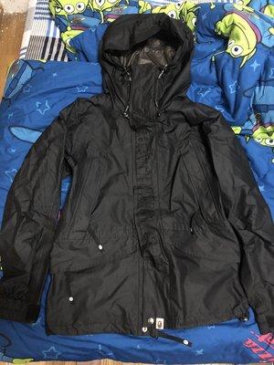 二手 ape x gore-tex 黑色刺繡雪衣外套