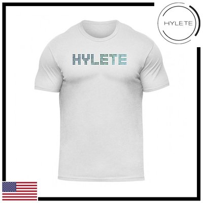 ►瘋狂金剛◄白色  HYLETE pinpoint tri-blend crew tee 柔軟 透氣 短袖T恤