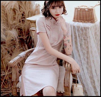 【Fashion歐洲站】新式中國風旗袍 改良版年輕款黃色棉文藝氣質日常生活旗袍