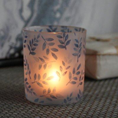 熱銷#浪漫創意彩色印花玻璃燭臺DIY自制香薫蠟燭空杯可定制送電子蠟#燭臺#裝飾