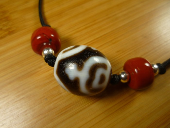【珠添神聖】 傳說天珠 西藏 達洛型 寶瓶天珠項鍊  ~隨附收藏珠寶絨布袋~3