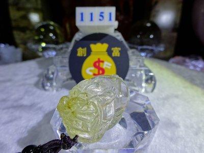®創富開運水晶© 1151 鈦晶貔貅項鍊 鈦晶貔貅墜 Quartz Rutilated 水晶類寶石 Brave troops 神獸 鎮宅安神 提升能量 助正財