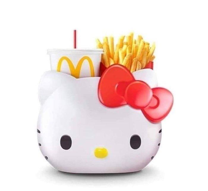 泰國麥當勞限量Hello Kitty手提萬用置物籃