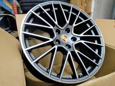 21吋正德國PORSCHE CAYENNE E3原廠RS SPYDER頂級鋁圈5x130-保時捷凱燕凱宴