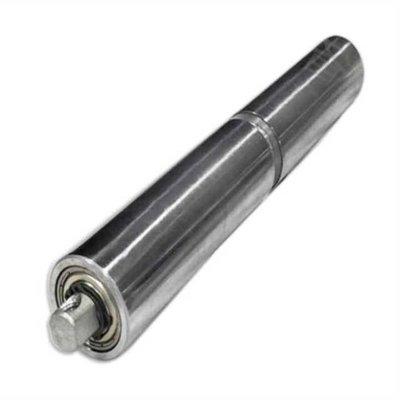 【精選】無動力流水線輸送帶傳動托輥主動軸滾輪配件不銹鋼雙排鏈輪滾筒
