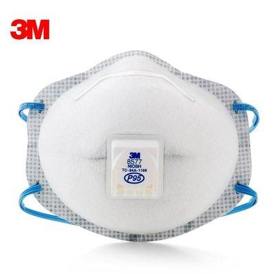 3M 8577活性碳氣閥口罩 P95等級 防有機氣體 防油煙 頭戴式 (10個/盒)《JUN EASY》