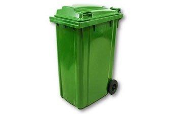 240L垃圾桶 2輪回收桶 可推式環保回收資源桶 塑鋼製  堅固耐用資源回收桶 240環保垃圾桶 出貨以綠色為主