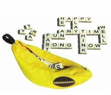 現貨!笨笨玩具 英語 Bananagrams Appletters Scrabble 拼單詞玩具香蕉拼字遊戲--廠家直售