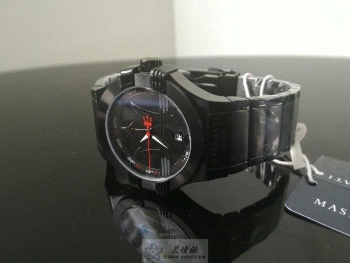 請支持正貨,瑪莎拉蒂手錶MASERATI手錶POTENZA 款,編號:MA00075,黑色錶面黑灰色精鋼錶鍊錶帶款