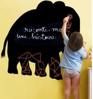 小妮子的家@大象黑板貼壁貼/牆貼/玻璃貼/汽車貼/安全帽貼/磁磚貼/家具貼