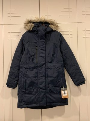 The North Face  Downtown Parka 北面 北臉 長版羽絨外套 藍 DryVent 女M