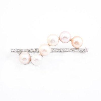 【JHT金宏總珠寶/GIA鑽石專賣】7MM天然珍珠胸針/材質:18K(PP00053)