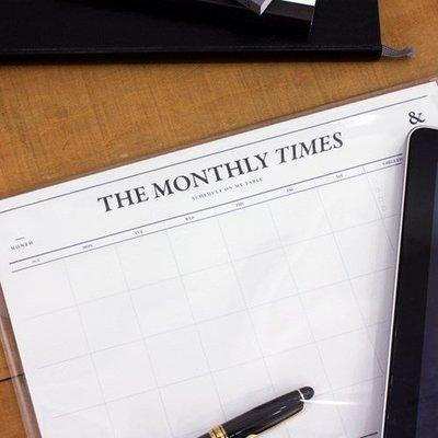 ♀高麗妹♀韓國 SEESO THE MONTHLY TIMES 單純的美好 單張式月計劃/自填日期萬年A4月曆(預購)