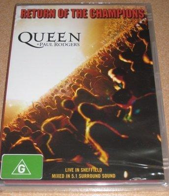 正版DVD《皇后合唱團》/ Queen + Paul Rodgers - Return of the Champions
