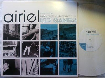 瞪鞋噪響洗滌網域世紀 airiel 2012年12吋 Kid Games 唱片 純白膠片