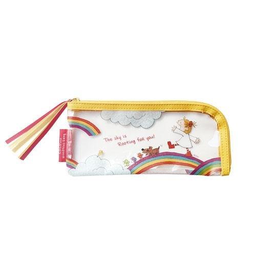 日本 可愛插畫小女孩coco防潑水拉鍊收納袋 筆袋