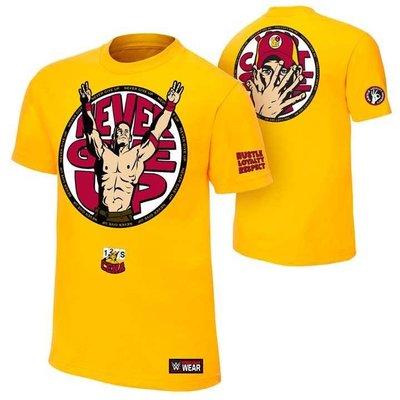 WWE 摔角衣服 John Cena U Cant C Me Yellow視而不見塞納黃色短袖T恤 買三免運
