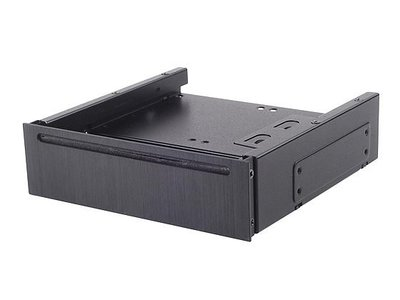 光華CUMA散熱精品*銀欣 FP58 5.25吋 轉 SLIM 光碟機 + 2.5吋硬碟 x4/鋁質面板/只剩黑色~現貨