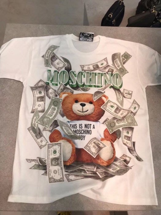 Moschino 衛兵熊 Bear Tee 小熊 Tee 白 XS