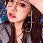 ♥kiki choc♥韓系 名媛風交叉鏤空鏡架方框...