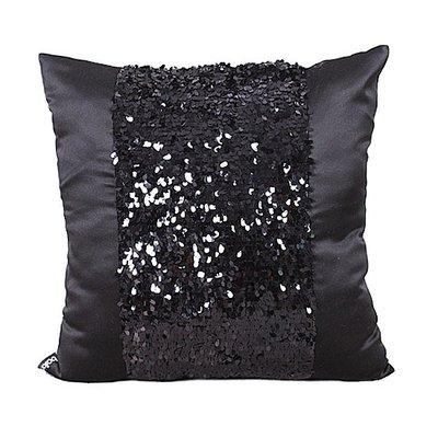 抱枕套 布藝 沙發抱枕套 靠墊0089 艾薩克黑色仿真絲珠片系列抱枕套/靠墊套