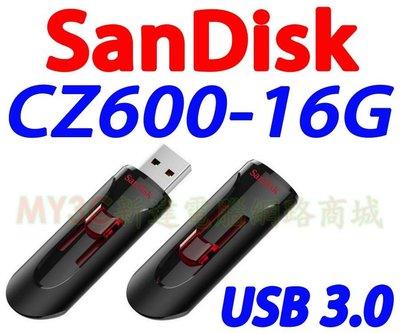 SanDisk 隨身碟 16G CZ600 Cruzer Glide USB 3.0 非 創見 威剛 64G 32G