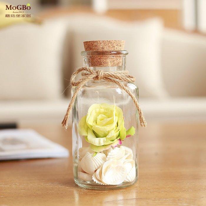 北歐創意 玻璃 家居裝飾星之語木塞布丁玻璃瓶子創意禮品瓶許愿瓶漂流瓶幸運星瓶裝飾瓶