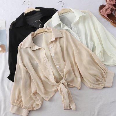 襯衫 #2024 🌸Mini Moda🌸 防曬罩衫 薄款外搭