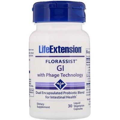 美國Life Extension,腸胃 益生菌(GI),30粒素食液體膠囊(雙重膠囊密封,頂級品牌,非基改)*百合麻雀*