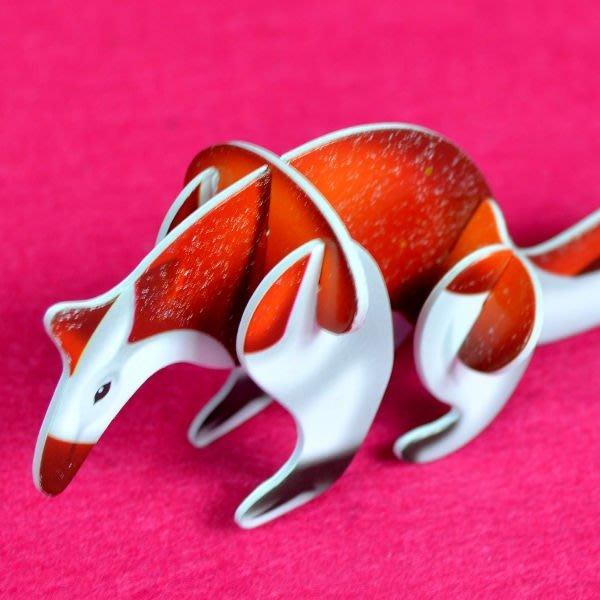 佳廷家庭 親子DIY紙模型3D立體拼圖贈品獎勵品專賣店 昆蟲館動物園 袋裝野生動物3食蟻獸 卡樂保