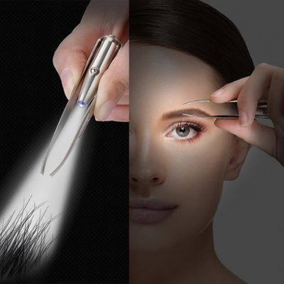 Eyebrow Hair Removal LED Eyebrow Tweezer Portable Stainless君君の店ZH0