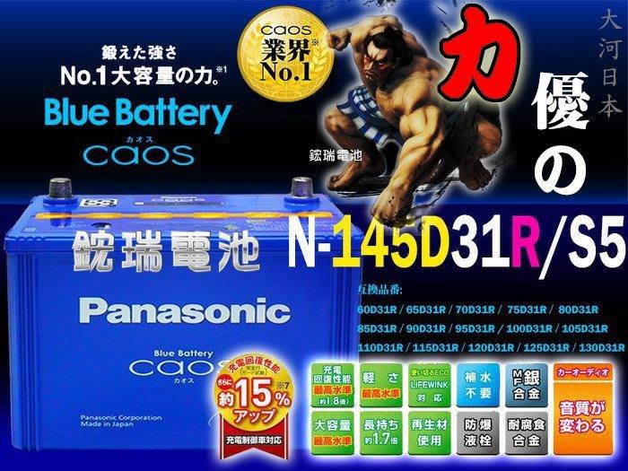 【鋐瑞汽車電池】Panasonic 國際牌 銀合金 日本製造 145D31R 充電制御 IX35 U7 M7 納智傑