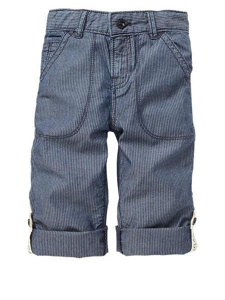【BJ.GO】美國GAP 小童_Convertible striped jeans 小小紳士細股條紋反折牛仔褲 官網新品現貨