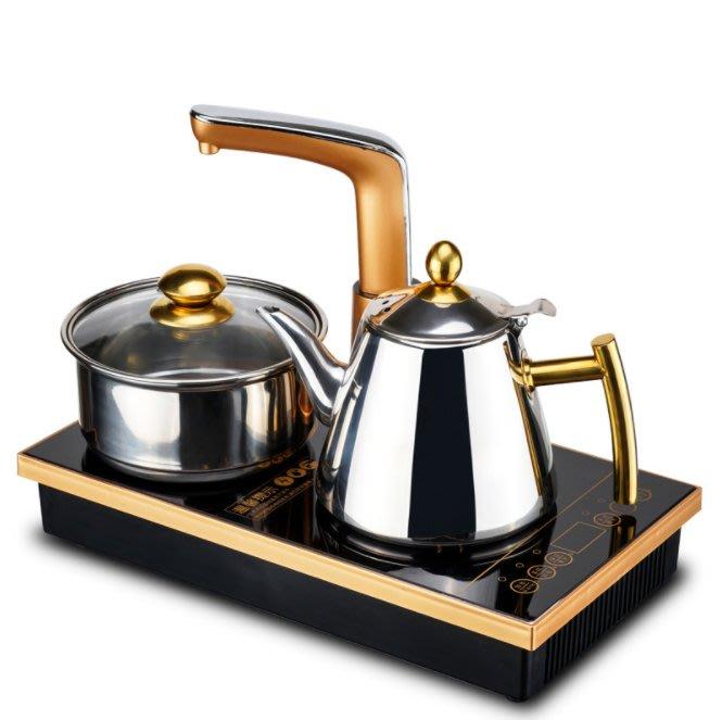 台灣現貨 110V平底電磁茶爐304不銹鋼水壺自動上水壺茶盤茶具專用玻璃煮茶爐 免運【24H快速出貨】