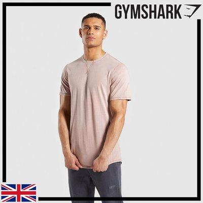 ►瘋狂金剛◄裸色 GYMSHARK LAUNDERED T-SHIRT 運動上衣 短袖 純棉T
