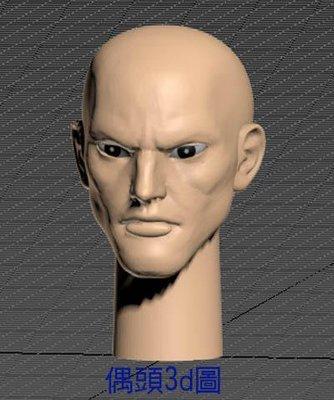 3d列印PLA材質布袋戲仙俠電玩動漫風格帥哥偶頭H組合套件買一組送試做套件一組