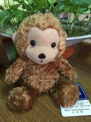☆薇菈日本精品☆ 日本製 STAR CHILD 駝色 猴子 娃娃 絨毛 玩偶 18cm