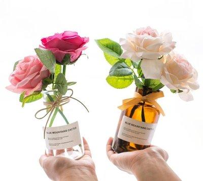 人造花 ins北歐干花清新絹花假花仿真花客廳花瓶裝飾品套裝餐桌花藝擺件 『快速出貨』