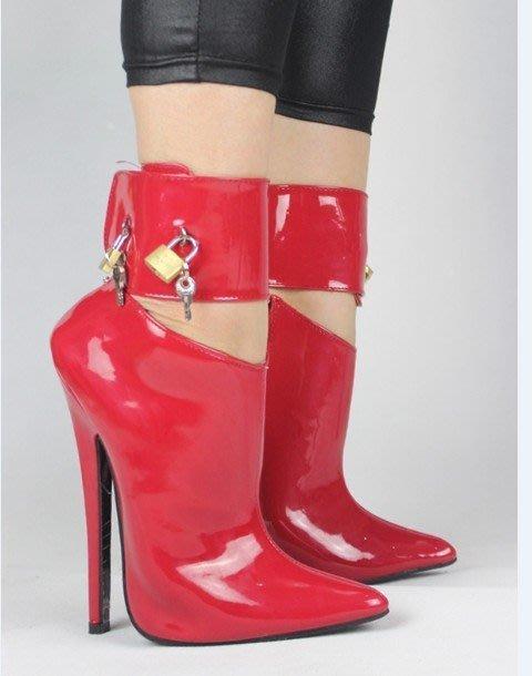 SM 芭蕾舞鞋 大碼女靴 漆皮女王 拍照鞋貨號:610166
