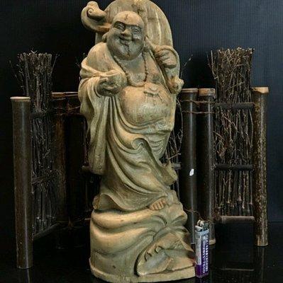 印尼早期 加里萬丹水沉香 重油沉香精緻雕刻品 (彌勒佛) 重量1222G