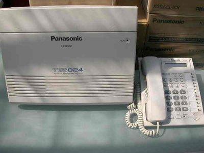 電話總機專業網...國際牌TES-824主機+12鍵來電顯示型話機7台...完善的保固