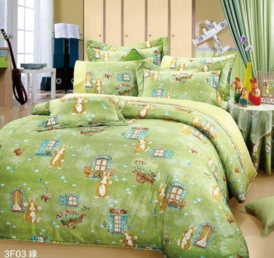 單人涼被4x5尺100%精梳棉-鄉村小兔-台灣製 Homian 賀眠寢飾